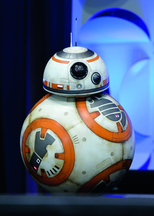 ANAHEIM, CA - APRIL 16: BB-8 onstage during Star Wars Celebration 2015 on April 16, 2015 in Anaheim, California. (Photo by Alberto E. Rodriguez/Getty Images for Disney)