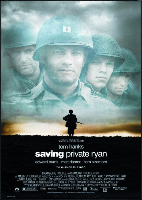 Poster for the movie 'Saving Private Ryan (directed by Steven Spielberg), 1998. (Photo by Buyenlarge/Getty Images)