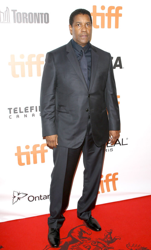 """TORONTO, ON - SEPTEMBER 08: Denzel Washington arrives at the 2016 Toronto International Film Festival - """"The Magnificent Seven"""" premiere held at Roy Thomson Hall on September 8, 2016 in Toronto, Canada. (Photo by Michael Tran/Getty Images)"""