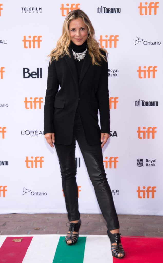 TORONTO, ON - SEPTEMBER 13: Actress Maria Bello attends the 'Mean Dreams' premiere wearing a Birks necklace during the 2016 Toronto International Film Festival at Ryerson Theatre on September 13, 2016 in Toronto, Canada. (Photo by Tara Ziemba/WireImage)