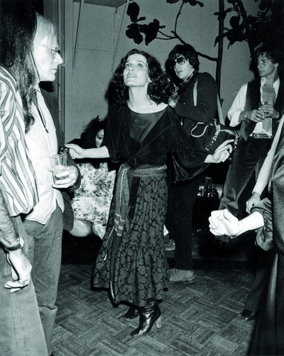 (NY 11) NEW YORK, JAN.17--SWINGING--Margaret Trudeau, estranged wife of Canadian Prime Minister Pierre Trudeau, does some solo swinging Monday night on the dance floor of New York's Studio 54 discotheque. She was one of the guests at a birthday party for fashion photographer Francesco Scavullo. (AP PHOTO) 1978