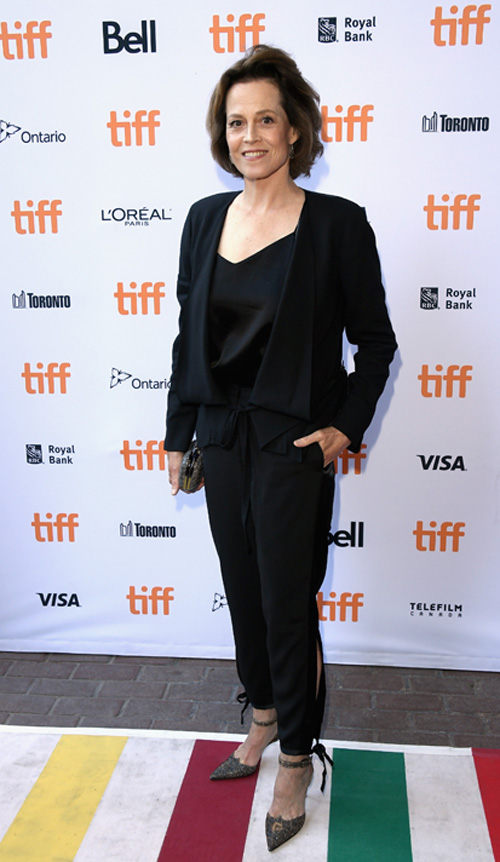 "TORONTO, ON - SEPTEMBER 14: Actress Sigourney Weaver attends the ""(re) ASSIGNMENT"" Premiere during 2016 Toronto International Film Festival at Ryerson Theatre on September 14, 2016 in Toronto, Canada. (Photo by George Pimentel/Getty Images)"