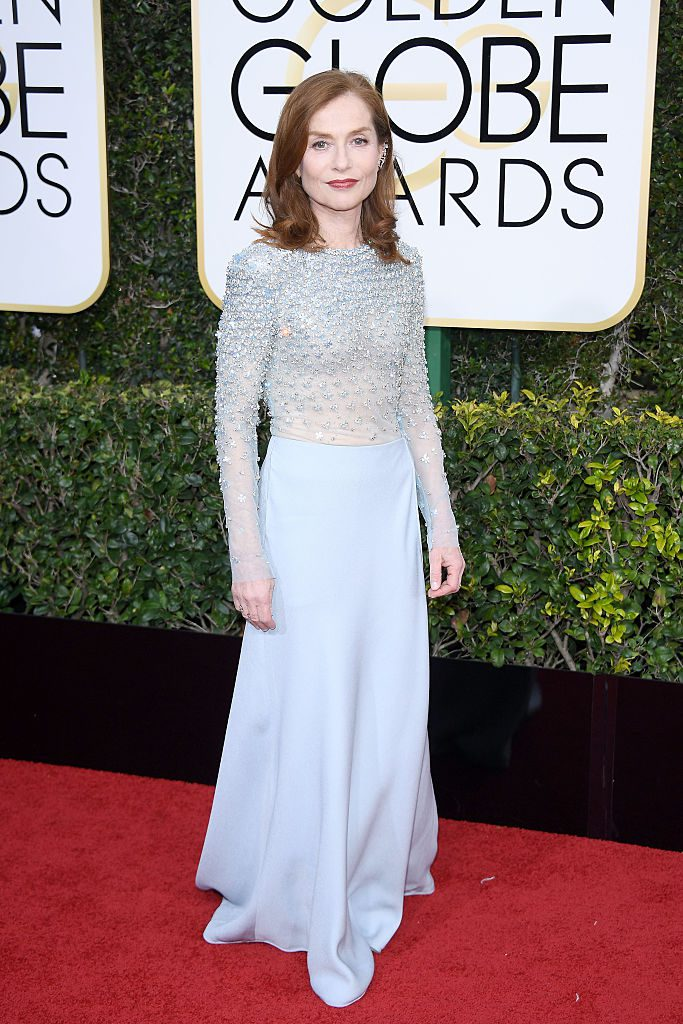 BEVERLY HILLS, CA - JANUARY 08: Isabelle Huppert attends the 74th Annual Golden Globe Awards at The Beverly Hilton Hotel on January 8, 2017 in Beverly Hills, California. (Photo by Venturelli/WireImage)