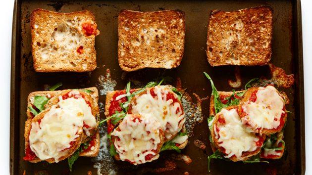 Baked Eggplant Parmesan Sandwiches