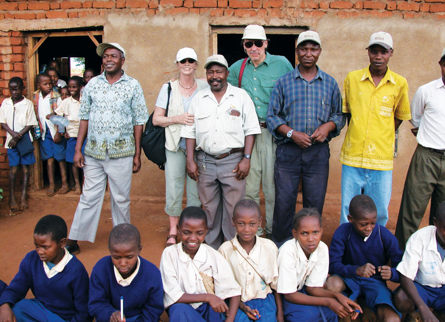 The Kays at the Gijedabung School in Tanzania.