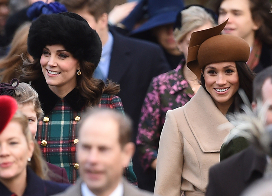 The Duchess of Cambridge and Meghan Markle