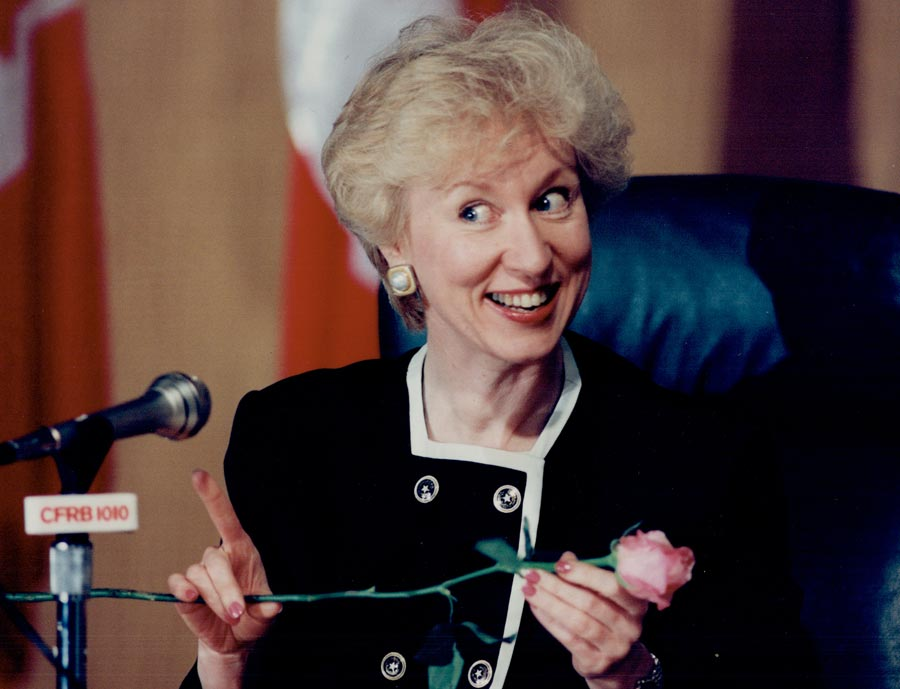 Canada's Kim Campbell during the 1993 election campaign