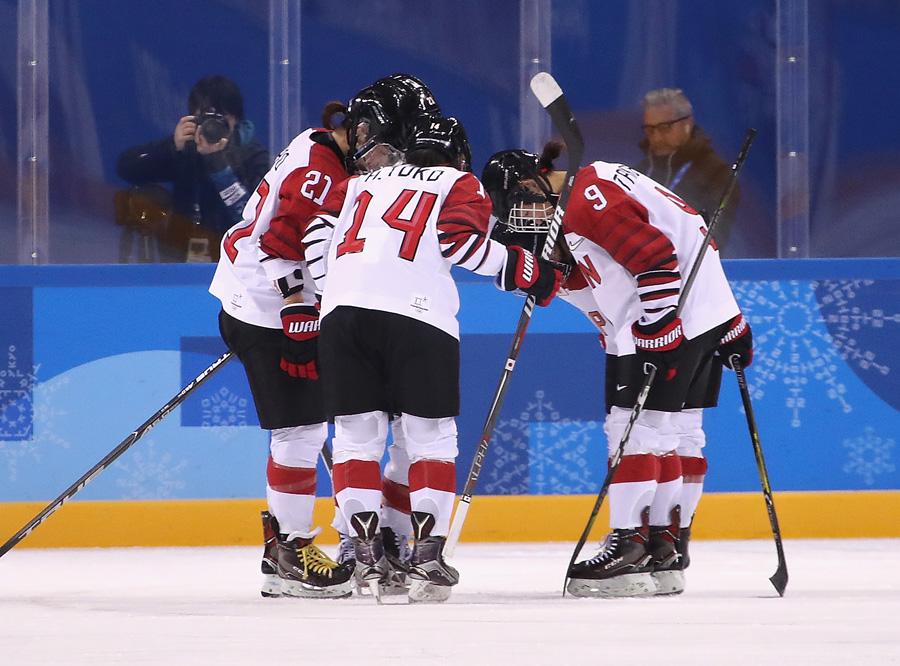 Japanese Women celebrate goal in Olympic Games