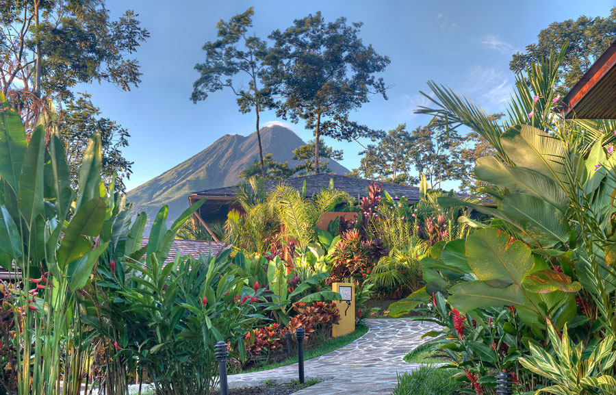 The view from Nayara Springs hotel in the Arenal Volcano National Park