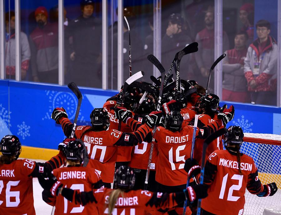 Canada celebrates defeating U.S. at Winter Olympics