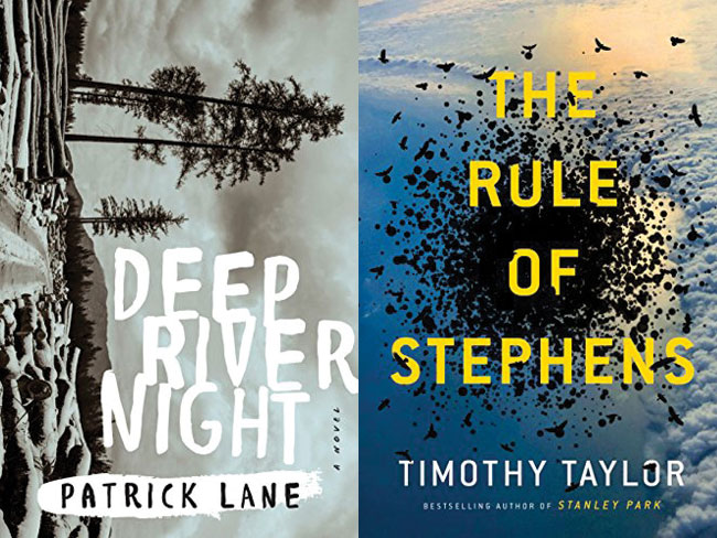 Book covers: Deep River Night and The Rule Of Stephens