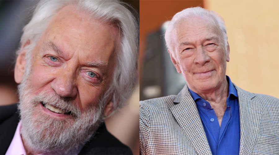 close up shots of Donald Sutherland and Christopher Plummer