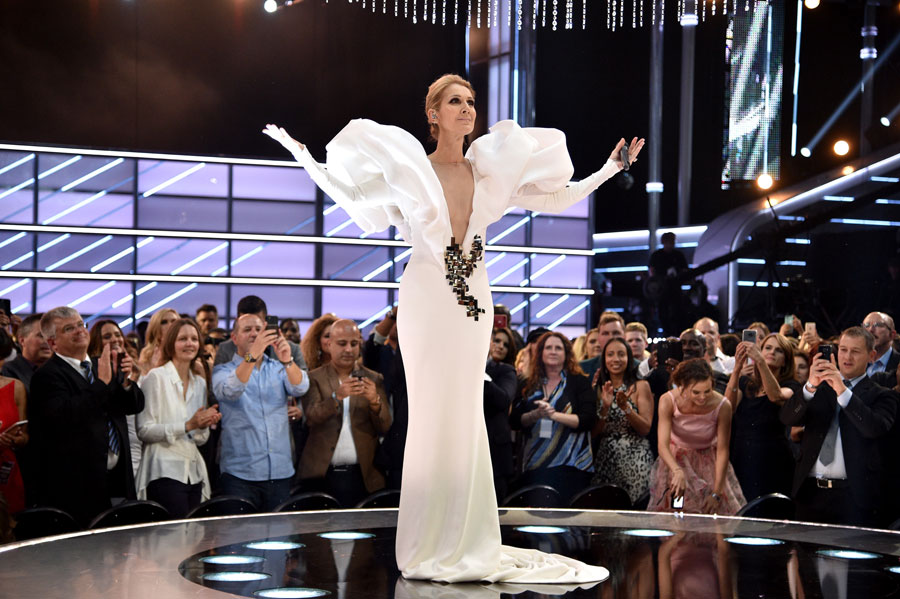 Celine Dion at the Billboard Music Awards, May 2017.