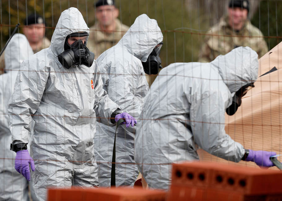 British Military investigate nerve gas attack in Salisbury