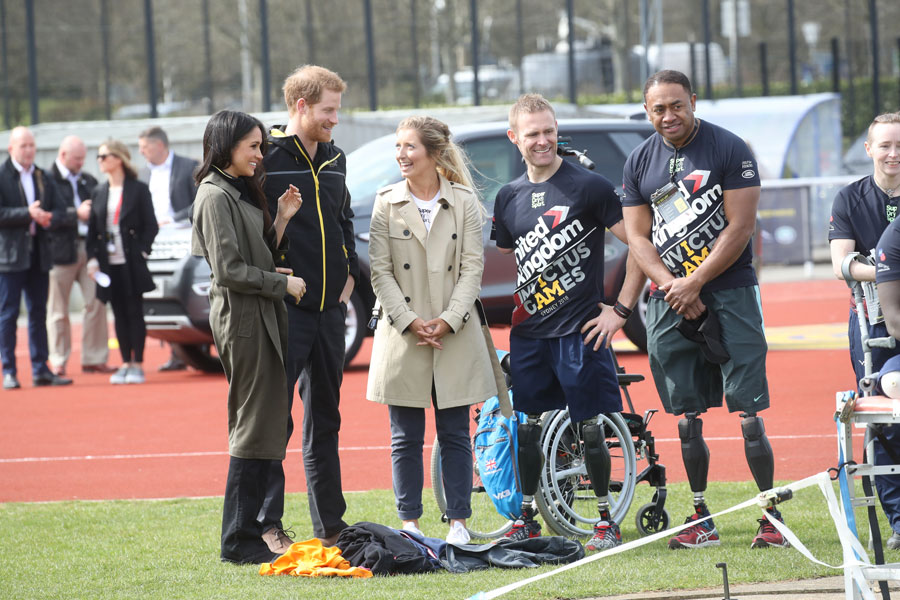 Meghan Markle and Prince Harry at Invictus Games trials