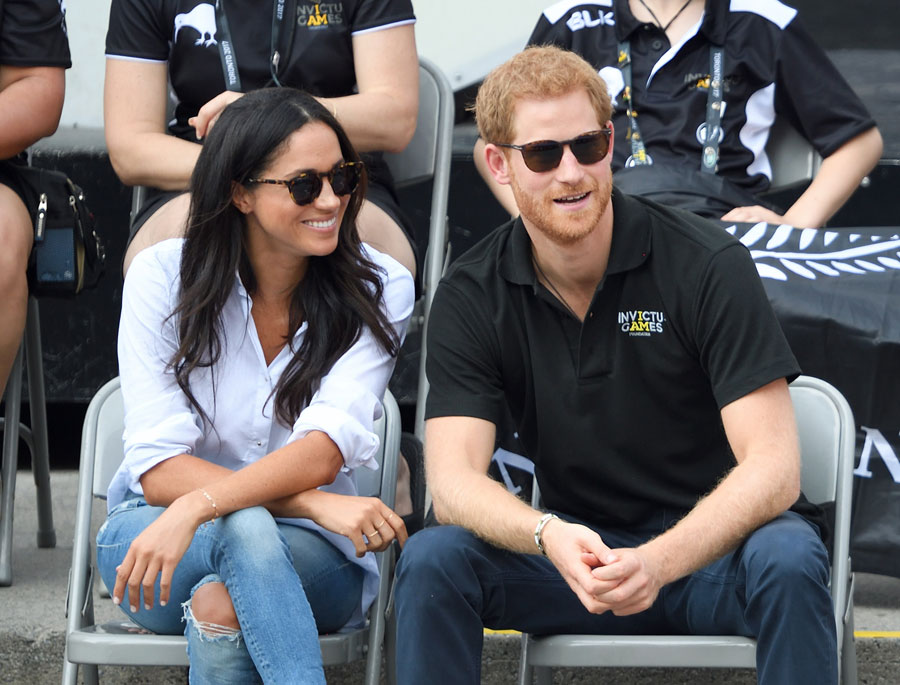 Prince Harry and Meghan Markle at the 2017 Invictus Games in Toronto