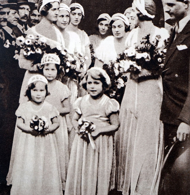Princess Elizabeth bridesmaid, 1931