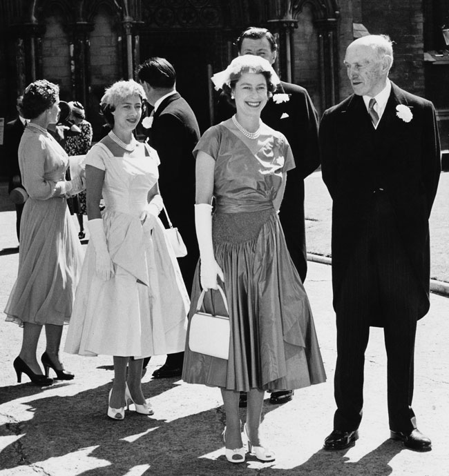 Queen Elizabeth at Kathryn Stanley's wedding