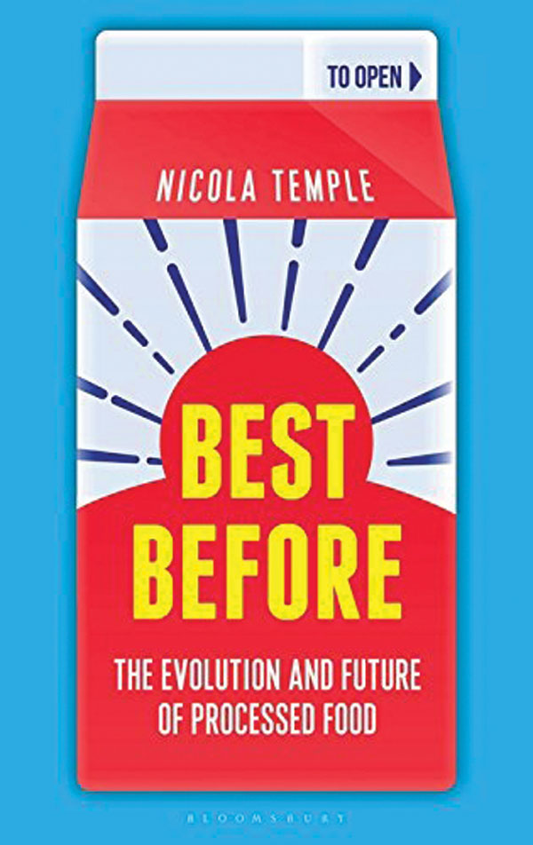 The book cover for best before. The title is displayed on the front of a milk carton.