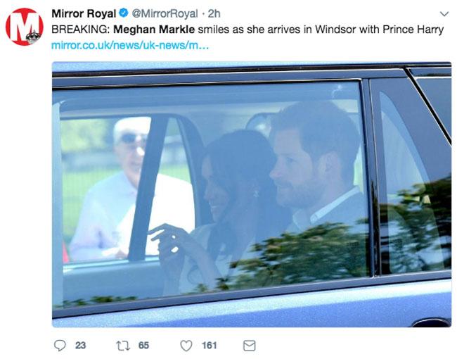 Meghan Markle at Windsor Castle