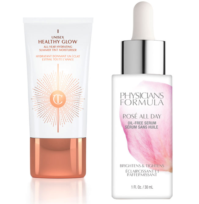 A photo of unisex healthy glow skin cream and Physicians Formula anti brightening and tightening cream.