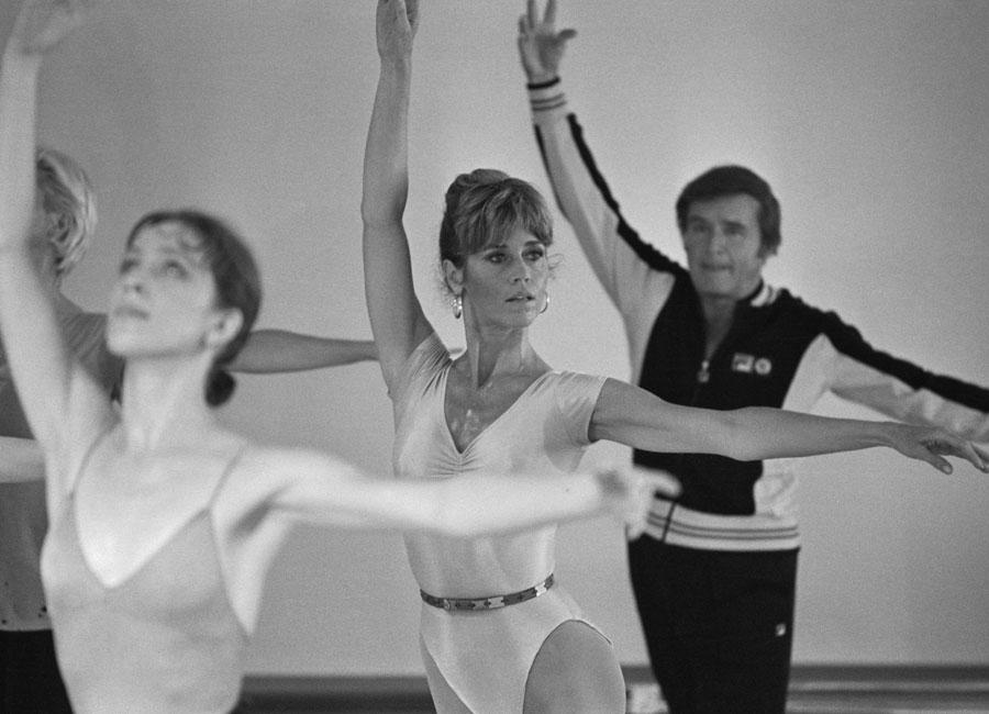 Jane Fonda, workout, 1970s