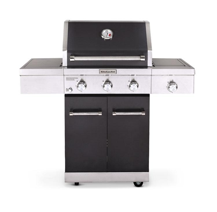 KitchenAid 3-burner gas grill in black