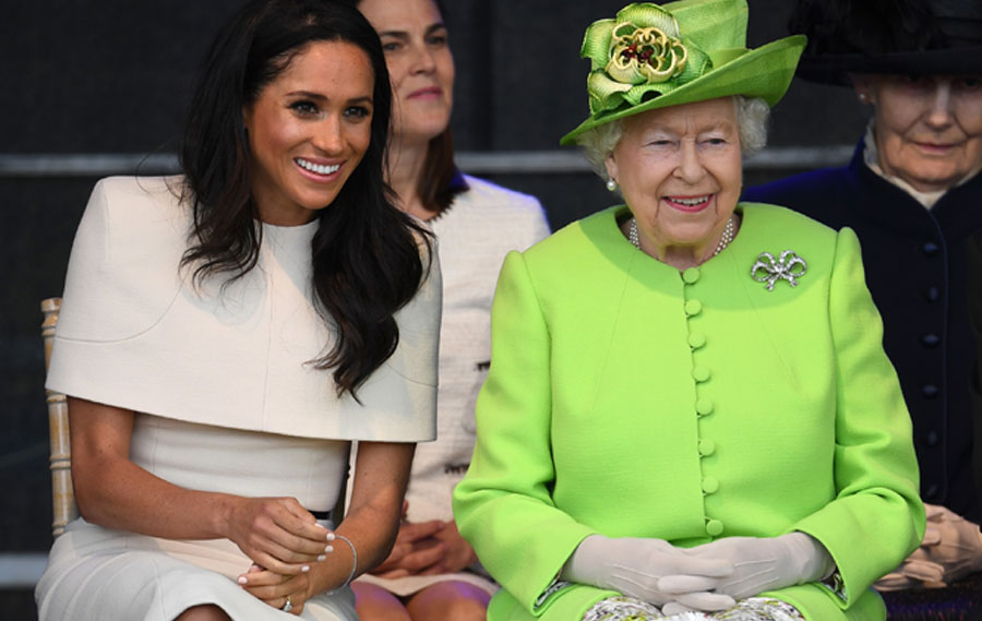 Awkward moment between Meghan Markle and Queen caught on camera