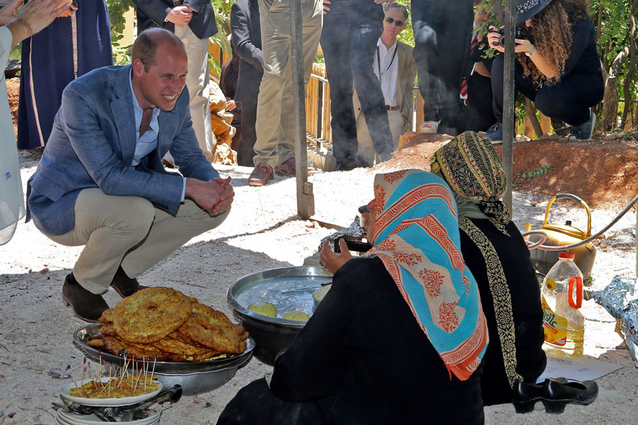Prince William in the Middle East