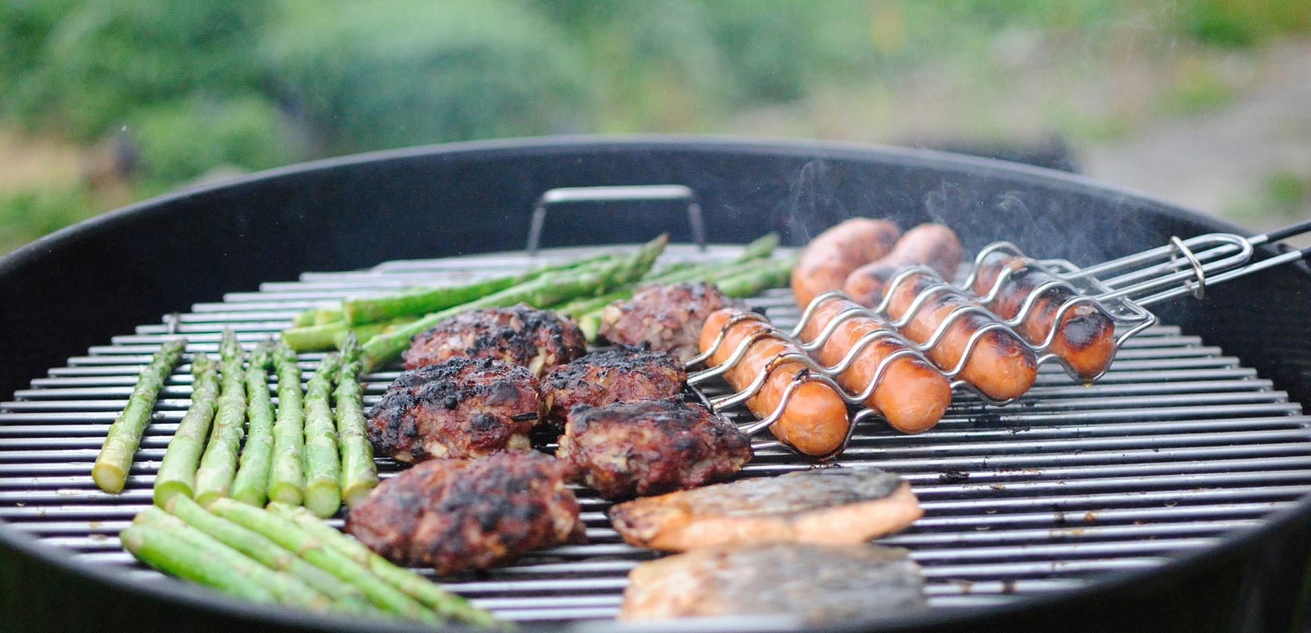 Grilling veggies and meats
