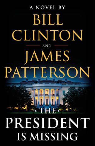 Book cover for the president is missing. The author and title over the White House on a dark night.