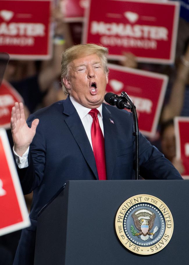 Trump delivers speech