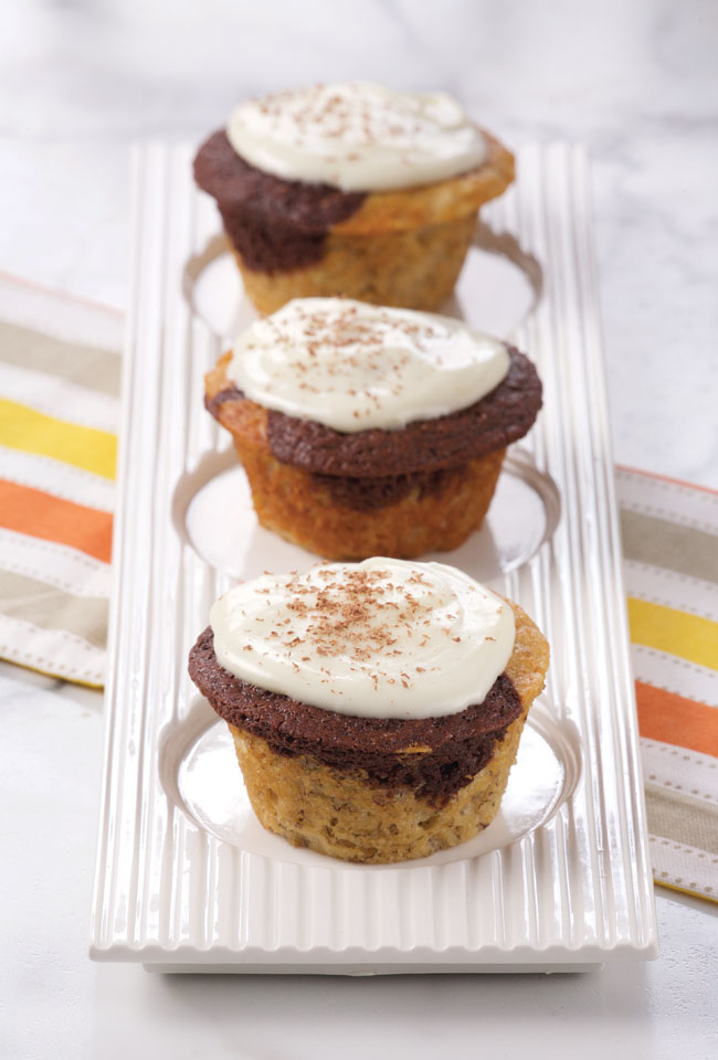 Banana Chocolate Cupcakes with Cream Cheese Frosting