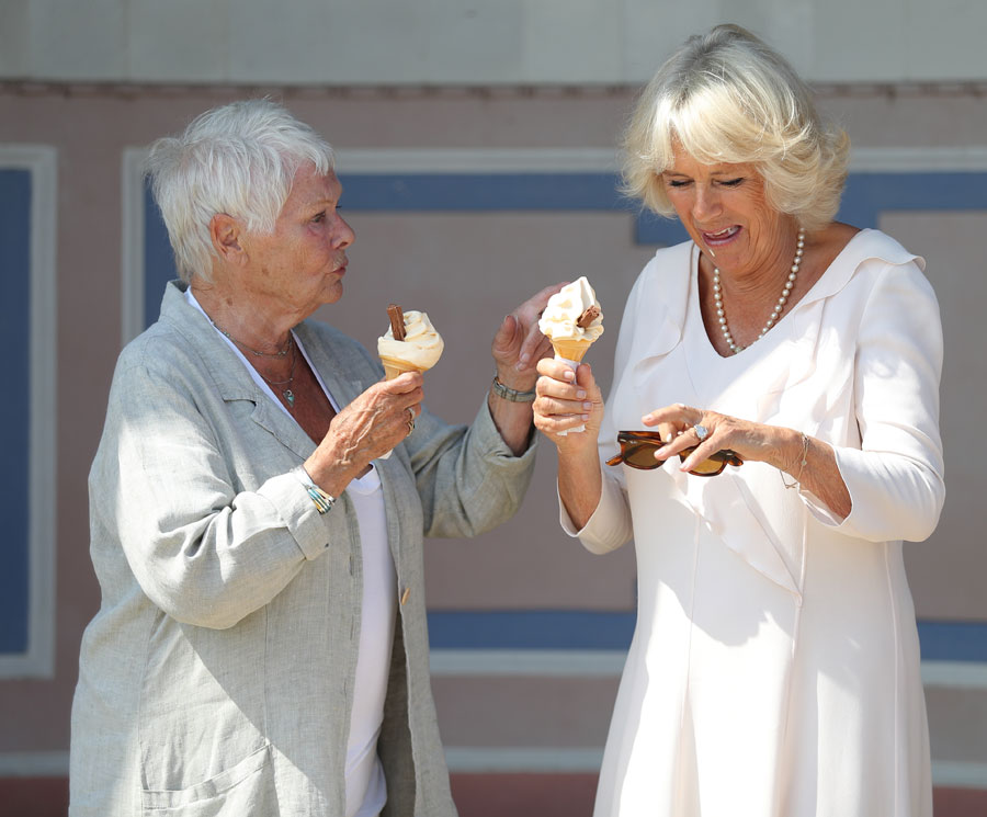 Duchess of Cornwall and Dame Judi Dench