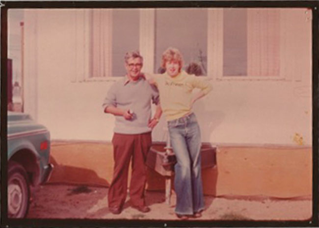 The author with his father, Norman Macpherson, in Yellowknife after a canoe trip on the Cameron River.