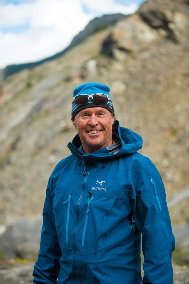 Mountain guid John Mellis during a hike.