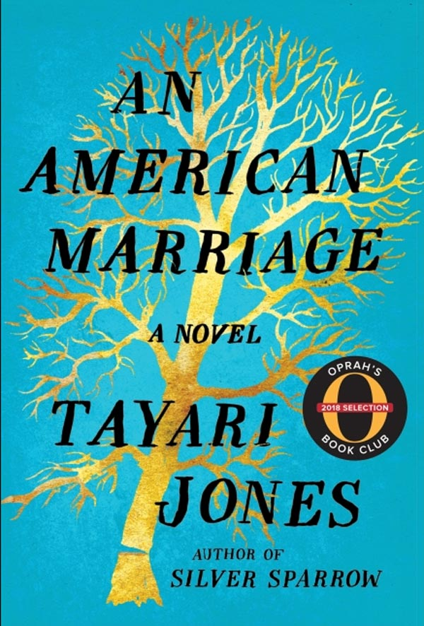 Book cover for An American Marriage by Tayari Jones.