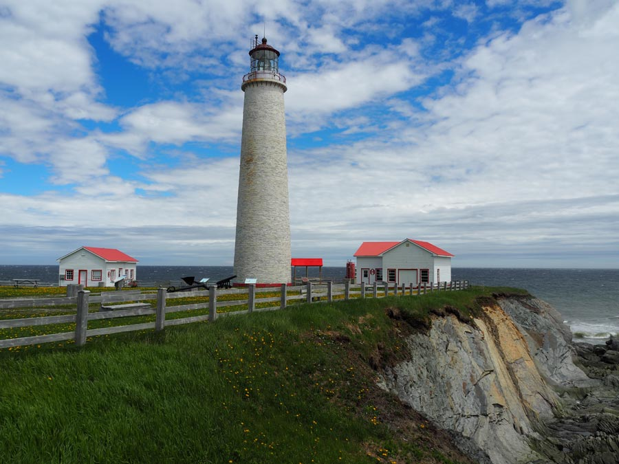 Cap des Rosiers light station, the tallest lighthouse in Canada.