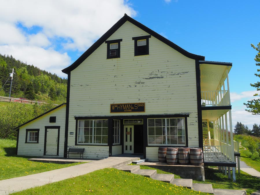 The Hyman Sons General Store in Forillon National Park tells of a time when cod fishing was king along the Gaspe.