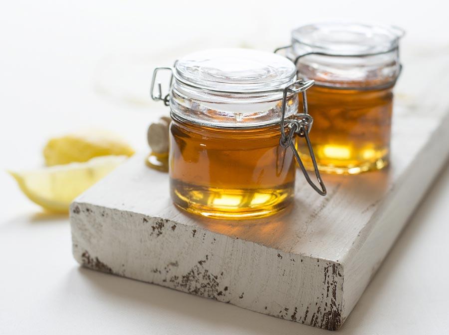 Several jars of honey.