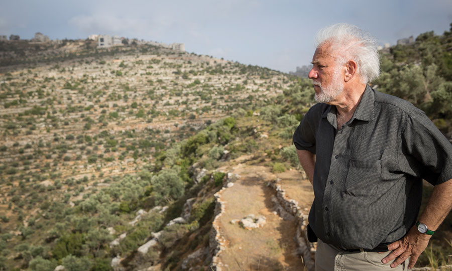 Author Michael Ondaatje stares out over a horizon.