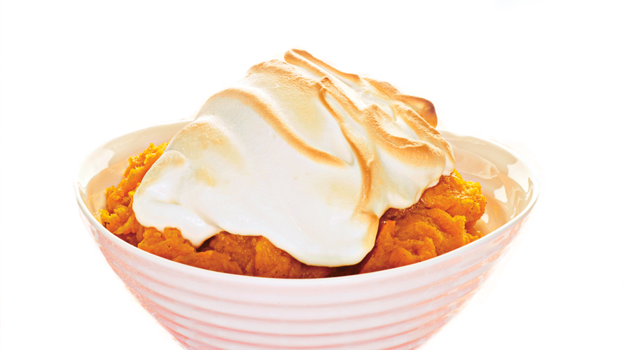 Sweet Squash with meringue topping in a bowl.