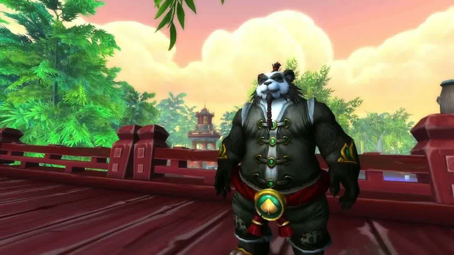 The giant panda monk from world of warcraft.