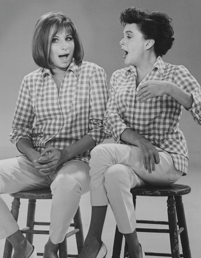 Barbra Streisand and Judy Garland