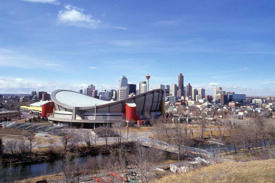 A view of the Olympic Saddledome in Calgary.