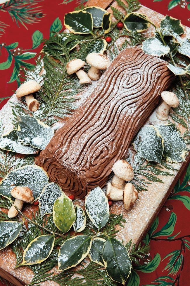 A Yule Log Cake.