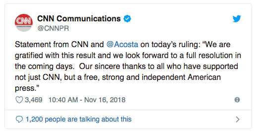 White House again threatens Jim Acosta's pass; CNN seeks hearing