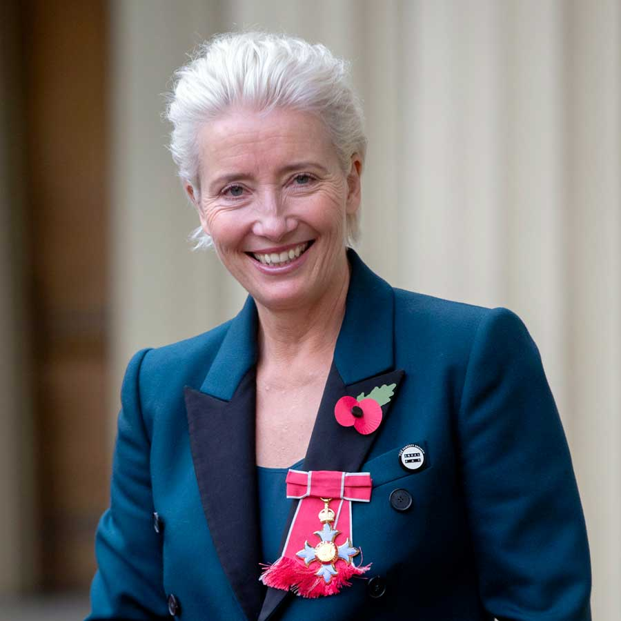 Actress Emma Thompson leaves Buckingham Palace after receiving her damehood at an Investiture ceremony on November 7, 2018.