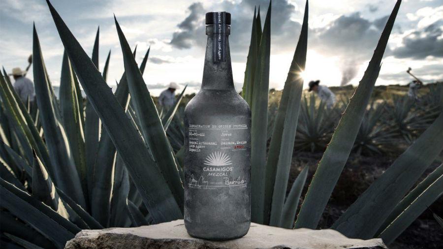 A bottle of Casamigos Mezcal, George Clooney's newest spirit.