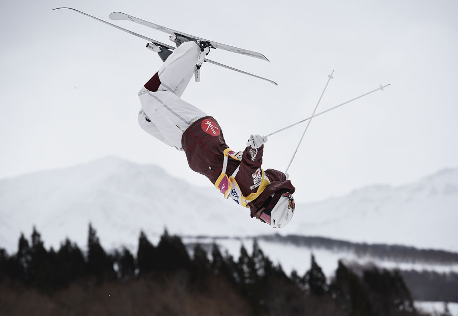 Mikael Kingsbury of Canada during training on day two of the FIS Freestyle Skiing World Cup Tazawako at Tazawako Ski Resort on March 4, 2018 in Senboku, Akita, Japan.
